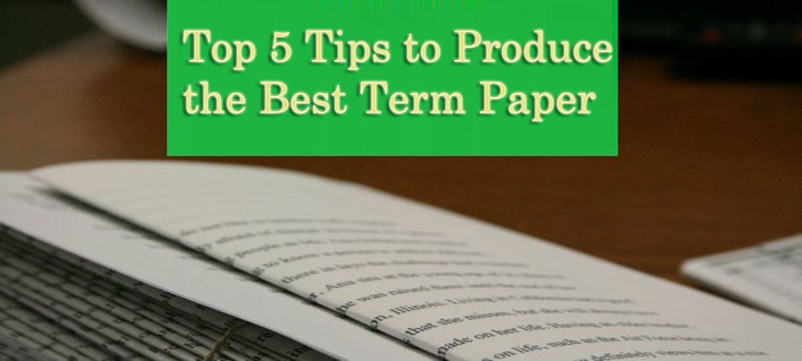 Top 5 Tips to Produce the Best Term Paper